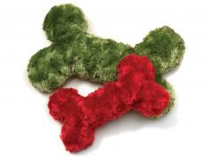 Dog Toy: Merry Bone Squeaker Toy, Available in 2 Sizes & 2 Colors