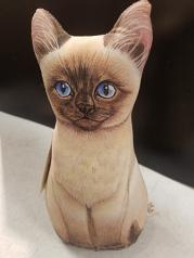 Kitty Siamese: Soft Weighted Fabric Beanie