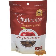 Treats:  Fruitables Chewy Skinny Mini Dog Treats Apple Bacon