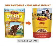 Treats:  Zukes Mini Natural Peanut Butter Semi-Moist Treat 6 oz bag