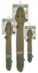 Dog Toy: Eco Rattler Squeaker Dog Toy Available in Medium 21""