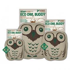 "Dog Toy: Eco Owl Quiet Dog Toy (no Squeaker), Large 10"""