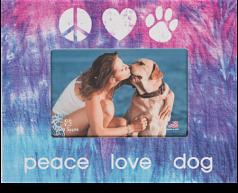 """Gifts:  Picture """"Frame Peace Love Dog"""""""