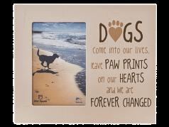 """Sympathy:  Picture Frame """"DOGS come into our lives, leave PAW PRINTS...."""""""