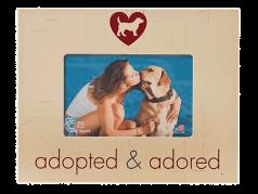 """Gifts:  Picture Frame """"Adopted & Adored"""""""