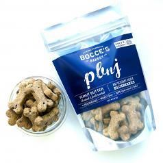 Treats:  Bocce's Bakery Peanut Butter & Blueberries