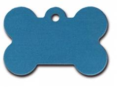 Engraved ID Tag:  Large Blue Bone Shape