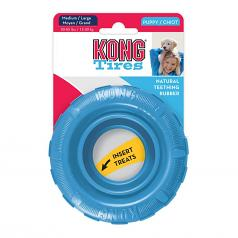 Dog Toy: Kong Puppy Tire Blue or Pink Size Medium or Large