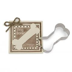 "Ann Clark Cookie Cutter:  Single 3.5"" Dog Bone with Gift Recipe Card"