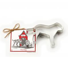 """Ann Clark Cookie Cutter:  Single 4.5"""" Dog Shape with Gift Recipe Card"""