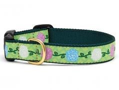 "Dog Collars: 5/8"" or 1"" Wide Hydrangea"