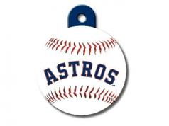 Engraved ID Tag:  Large Baseball Houston Astros