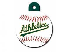 Engraved ID Tag:  Large Baseball Oakland Athletics
