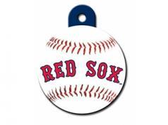 Engraved ID Tag:  Large Baseball Boston Red Sox