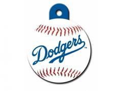 Engraved ID Tag:  Large Baseball LA Dodgers
