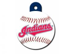 Engraved ID Tag:  Large Baseball Cleveland Indians