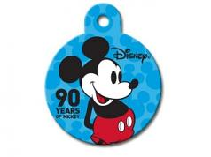 Engraved ID Tag:  Large Round Mickey Celebrating 90 yrs