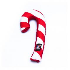 Dog Toy: Holiday Candy Cane Cordura Squeaker Dog Toy