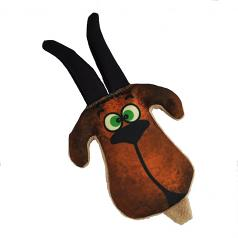 Dog Toy: Grazer the Goat Crinkle Cordura Dog Toy (no Squeaker)