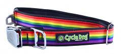 "Cycle Dog: WaterProof Rainbow Collar 1.1"" or 1.5"" Widths"