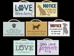 Wooden Sign: Retangle Wooden Sign with Rope 7 Designs
