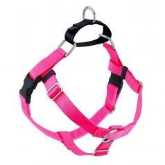 HOT PINK Freedom No-Pull Harness with Black Back Loop