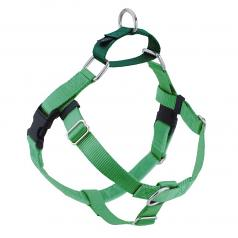 NEON GREEN Freedom No-Pull Harness with Kelly Green Back Loop