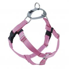 ROSE PINK Freedom No-Pull Harness with Silver Back Loop