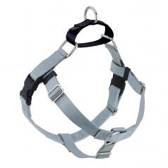 SILVER Freedom No-Pull Harness with Black Back Loop