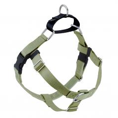 TAN Freedom No-Pull Harness with Black Back Loop
