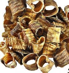 "Chew/Treat: 100% USA Krunchie O's Trachea 1/2"" Slices, 4 oz or 8 oz"