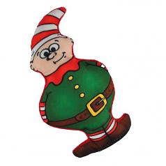 Dog Toy: Holiday Earnie the Elf Cordura Squeaker Dog Toy