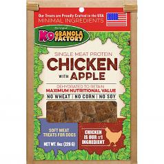 Treats:  K-9 Granola Chicken with Apple Single Source 8 oz