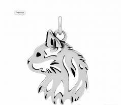 Cat Head Pendant- Sterling Silver