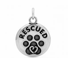 Rescued Pendant- Sterling Silver