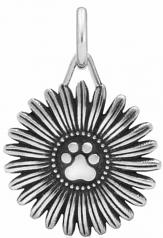 Flower Pawer Pendant- Sterling Silver