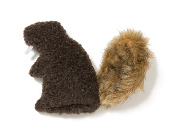 Dog Toy: Dam Beaver Squeaker Toy Available in Brown or Jewel Blue