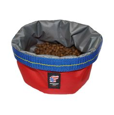 Travel Bowl:  American Dog Stow-a-Bowl Red