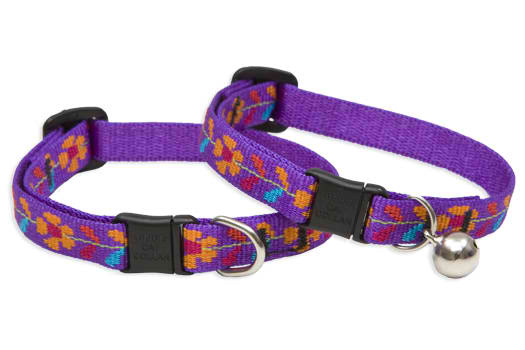 Lupine Cat Collar: Pattern Rose Garden with or without a bell