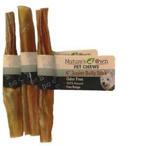 "Chews:  100% USA Beef Bully Single Stick in 6"" or 12"""