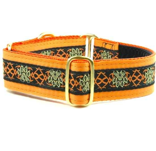 "Dog Collars:  Tribal Paws 1.5"" Wide"