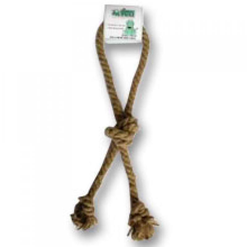 Dog Toy:  Natural Hemp Loop Tug Toy