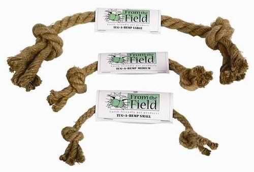 Dog Toy:  Natural Hemp Rope Tug Toy