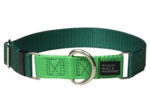"Dog Collars:  Martingale 1.5"" Width for dogs 45lbs and Larger Available in 11 Colors"