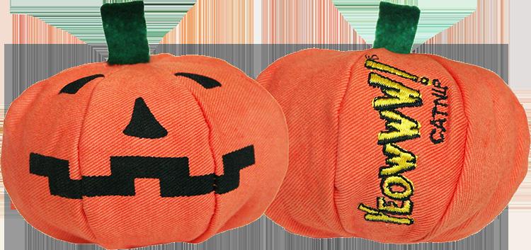 Cat Toy:  Holiday Pumpkin Yeoww-loWeen Organic Catnip Toy