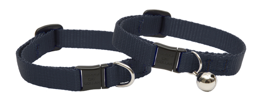 Lupine Cat Collar: Solid Black with or without a bell