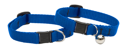 Lupine Cat Collar: Solid Blue with or without a bell