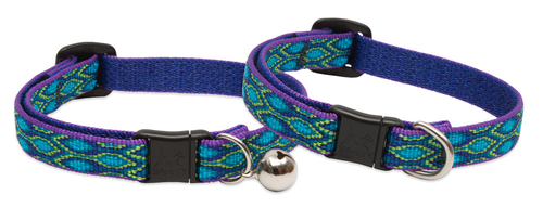 Lupine Cat Collar: Pattern Rain Song with or without a bell