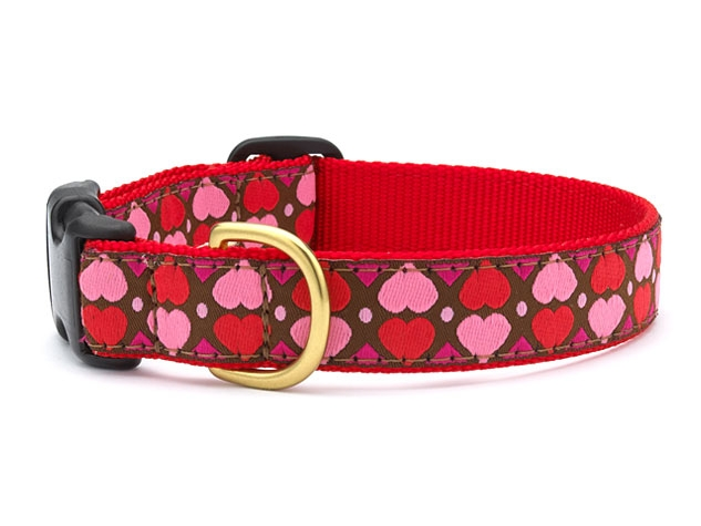 "Dog Collars: 5/8"" or 1"" Wide All Hearts Collar"