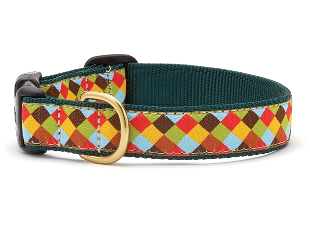 """Dog Collars: 5/8"""" or 1"""" Wide Sophisticheck Clip Collar"""